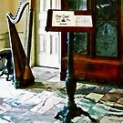 Music Room With Harp by Susan Savad