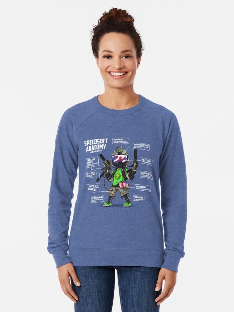 Alternate view of SPEEDSOFT ANATOMY (White writing) Lightweight Sweatshirt