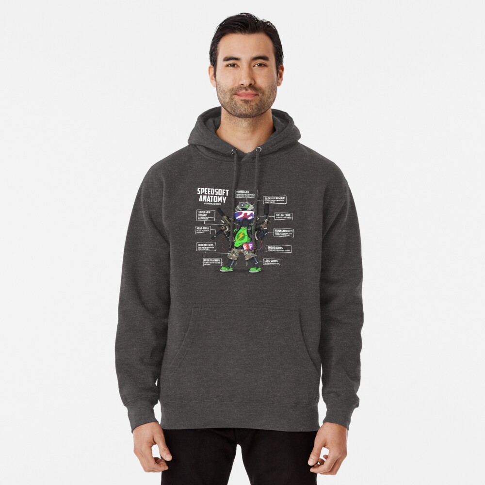 SPEEDSOFT ANATOMY (White writing) Pullover Hoodie