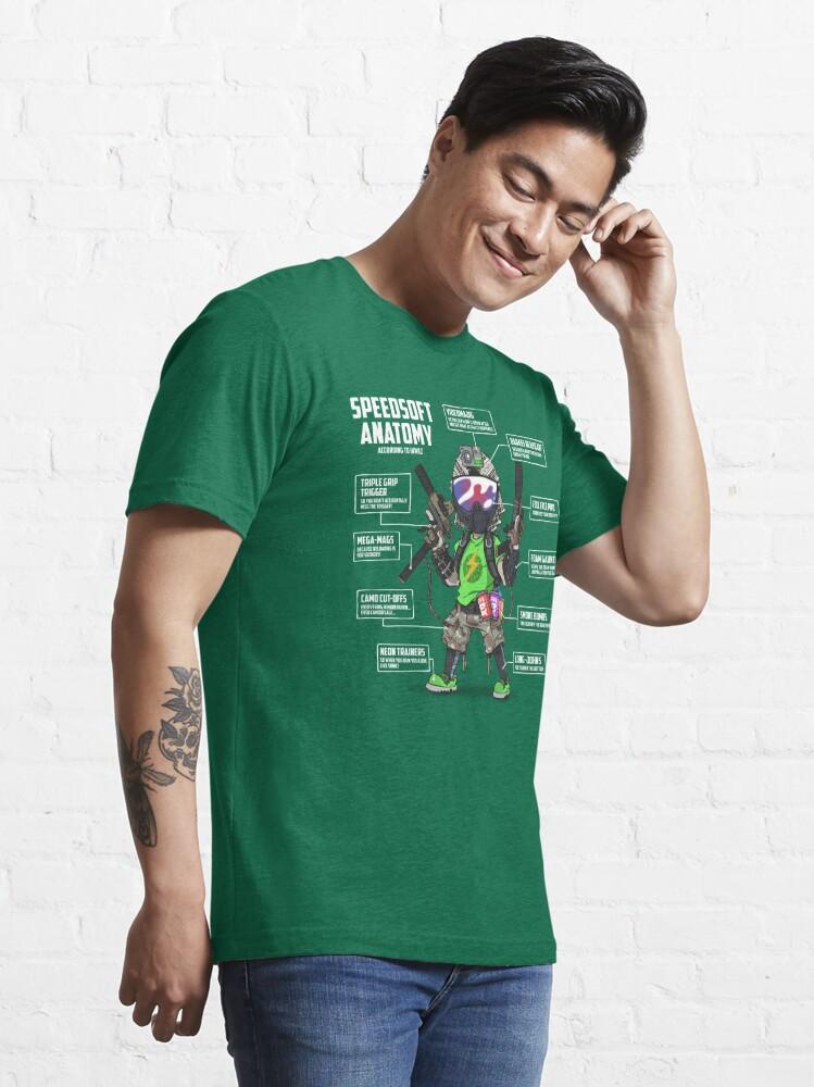 Alternate view of SPEEDSOFT ANATOMY (White writing) Essential T-Shirt