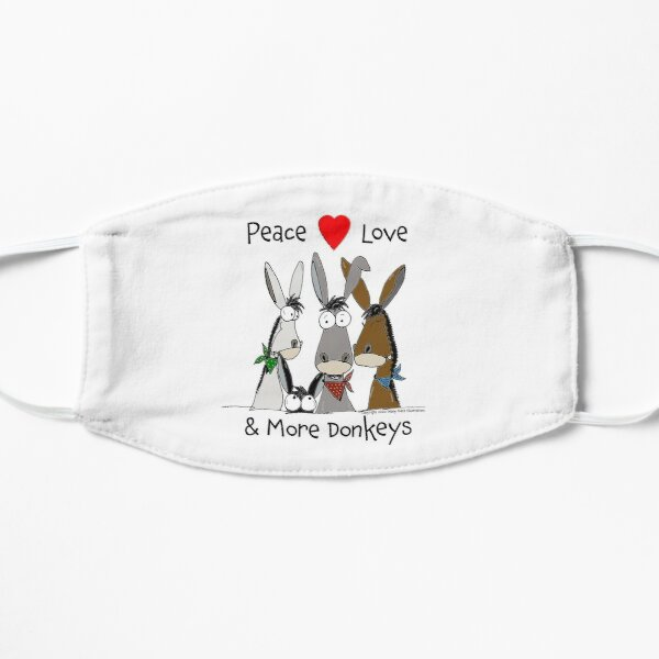 Peace, Love and More Donkeys Mask