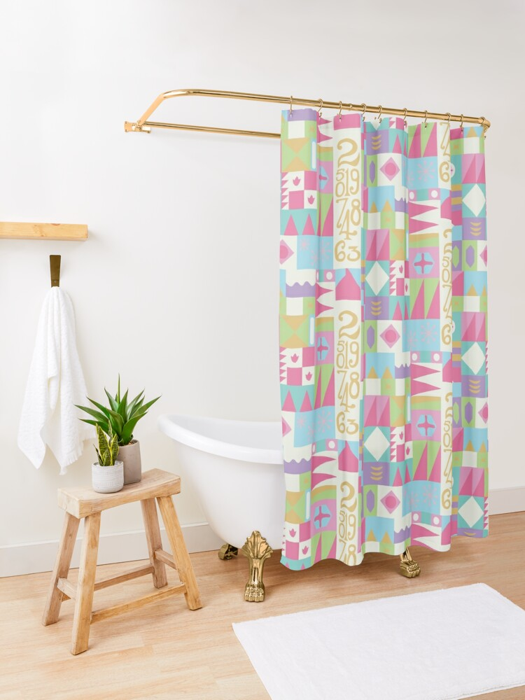 Alternate view of Small World Shower Curtain