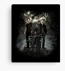 Bloodborne / Supernatural - Hunters Canvas Print