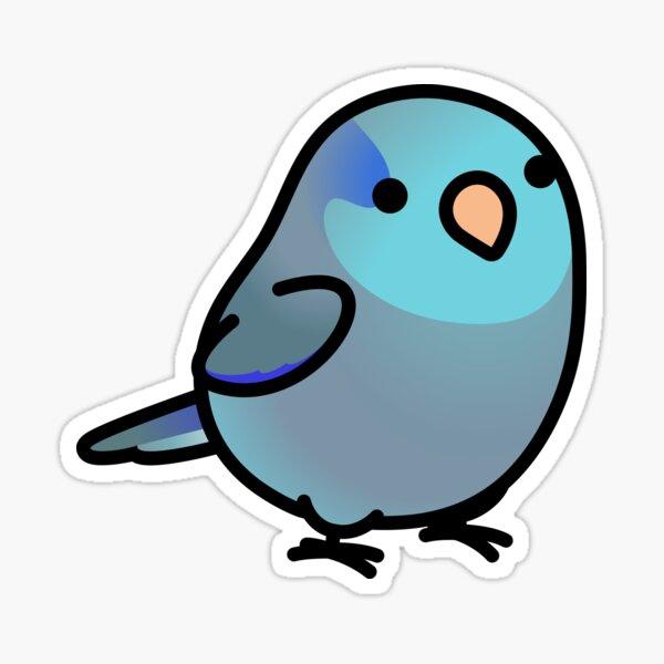 Chubby Dark Blue Parrotlet Sticker