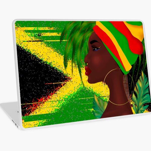 Jamaican woman art Laptop Skin
