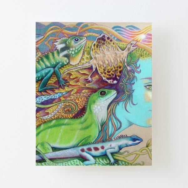 A Tangle Of Lizards, Lizard Art Canvas Mounted Print