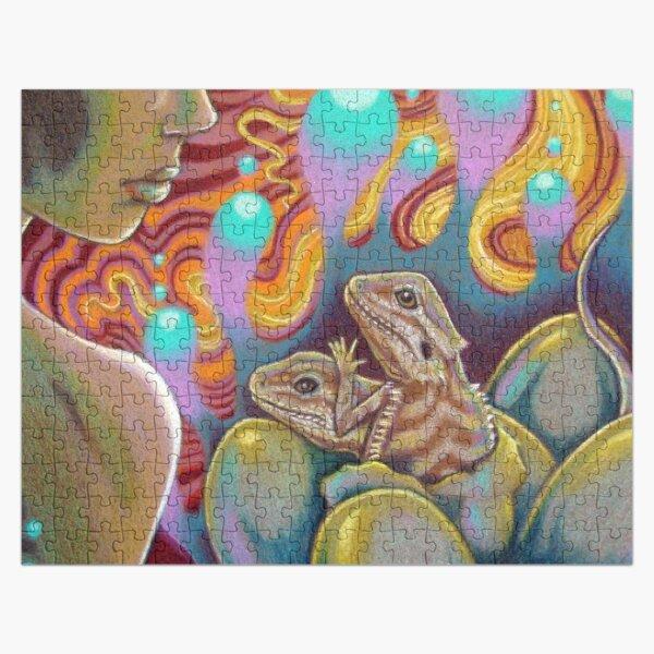 The Egg Maiden, Bearded Dragon Art Jigsaw Puzzle