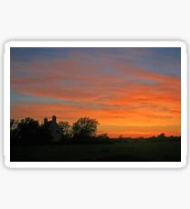 Sunset on the Levels Sticker