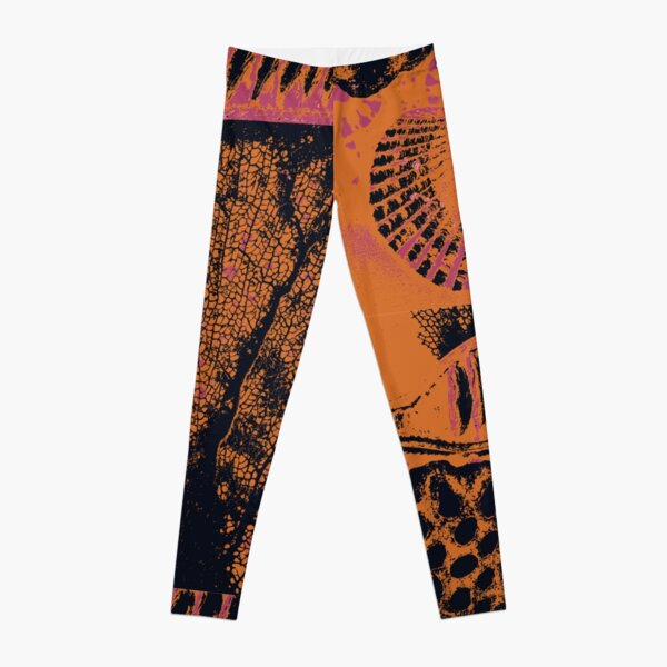 Patterns From Nature in Pink and Brown Leggings