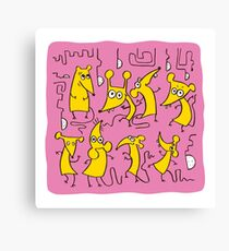 Cartoon Funny Mouses Canvas Print