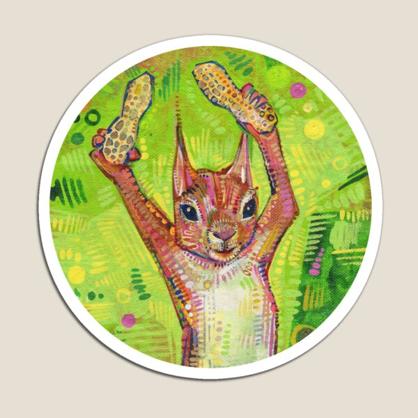 Nuts Painting - 2014 Magnet