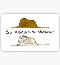 Ceci n'est pas un chapeau Sticker