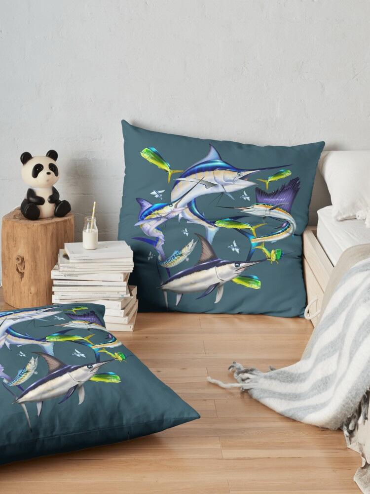 Alternate view of Atlantic Billfish Floor Pillow
