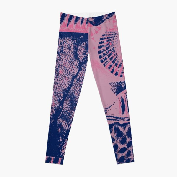 Patterns From Nature in Pink and Blue Leggings