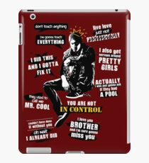 Delsin Rowe Quotes iPad Case/Skin