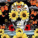 «Dreaming of Daisies Skull» de KristyPatterson