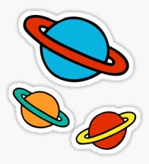 Space Planets Pattern Sticker