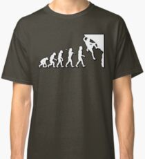 Evolution Rock Climbing by Stencil8 Classic T-Shirt