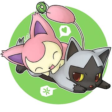 Skitty and Poochyena by cielpennings