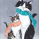 I'll Keep You Warm Cats by Ryan Conners