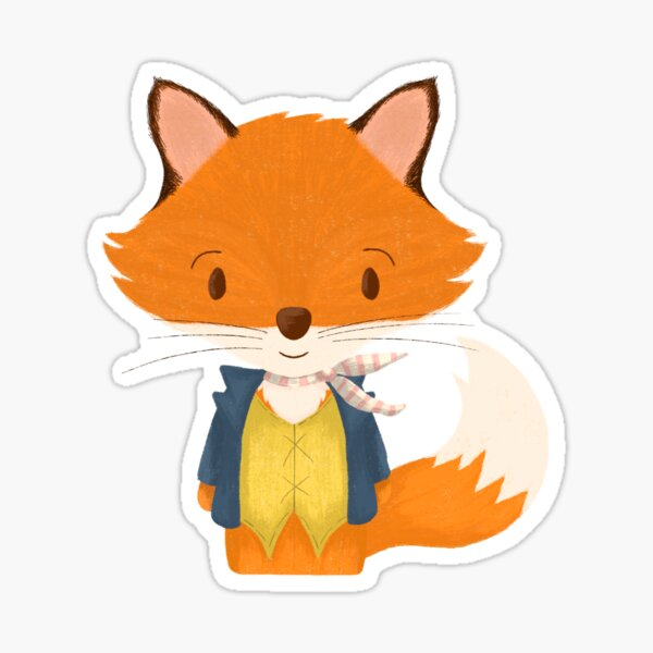Make Today Fantastic - Cute Fox Gift For Her Sticker