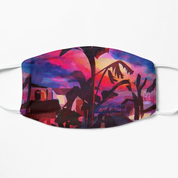 sunset street Mask