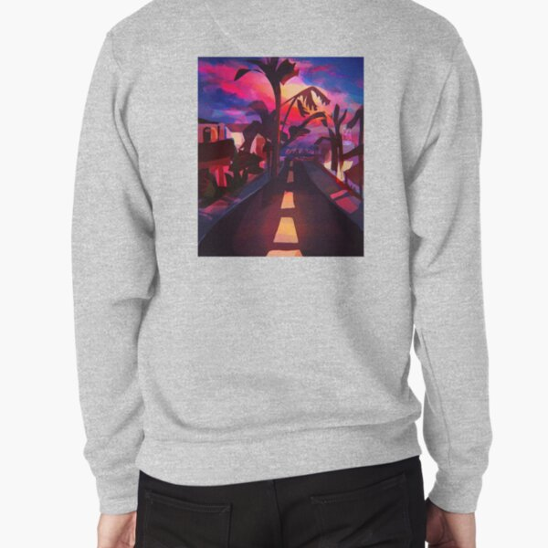sunset street Pullover Sweatshirt