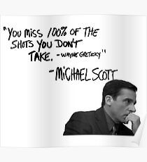 Michael Scott's Inspirational Quote (White) Poster