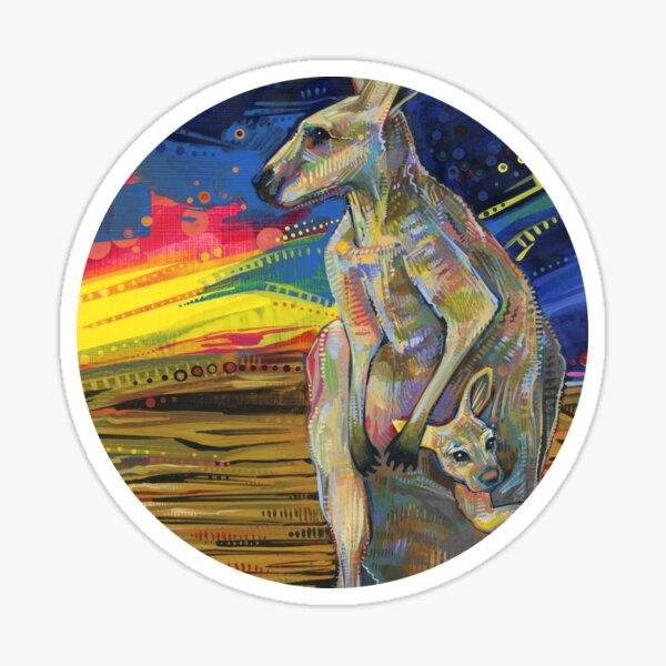 Red Kangaroo Painting - 2012 Sticker