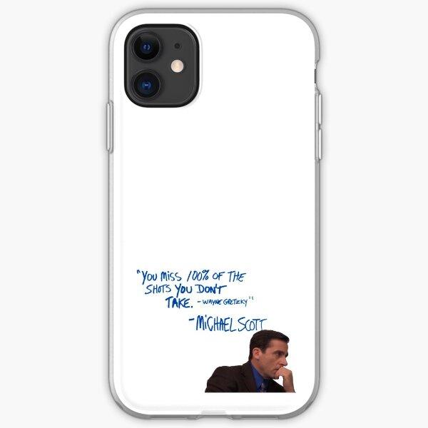 Michael Scott's Inspirational Quote (Colour) iPhone Soft Case