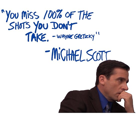 michael scott 39 s inspirational quote colour posters by
