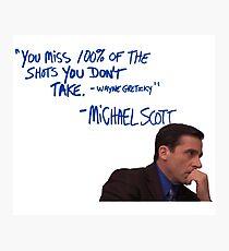 Michael Scott's Inspirational Quote (Colour) Photographic Print