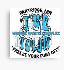 Parks and Rec: Ice Town Shirt Canvas Print