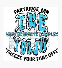 Parks and Rec: Ice Town Shirt Photographic Print