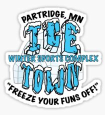 Parks and Rec: Ice Town Shirt Sticker