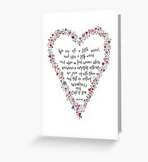 Dr Seuss inspired quote, Love is Weird, Valentines Greeting Card