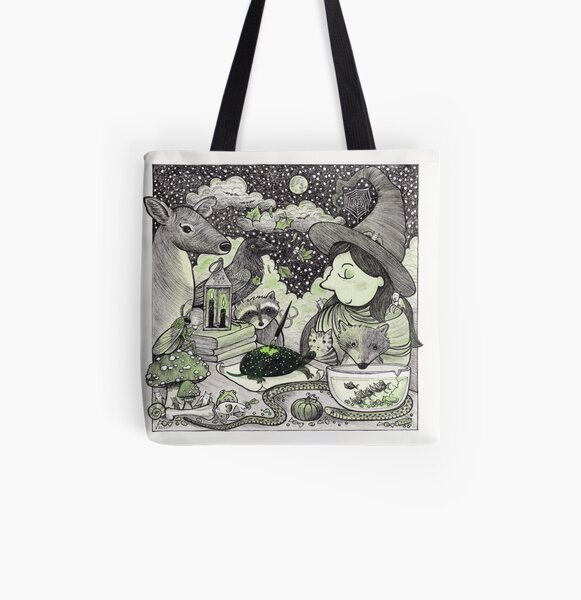 Bewitching All Over Print Tote Bag