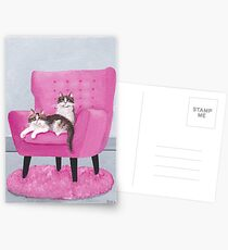 The Pink Chair Cats Postcards