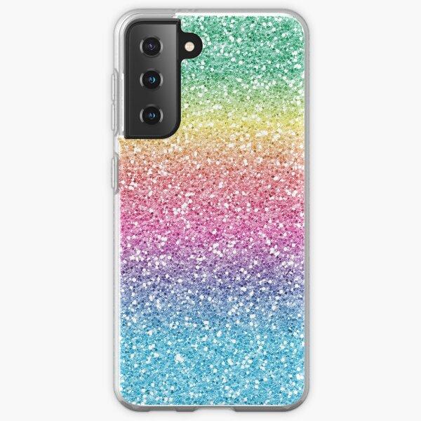Rainbow Ombre Glitter Samsung Galaxy Soft Case