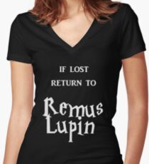 If Lost Return to Remus Lupin  Women's Fitted V-Neck T-Shirt