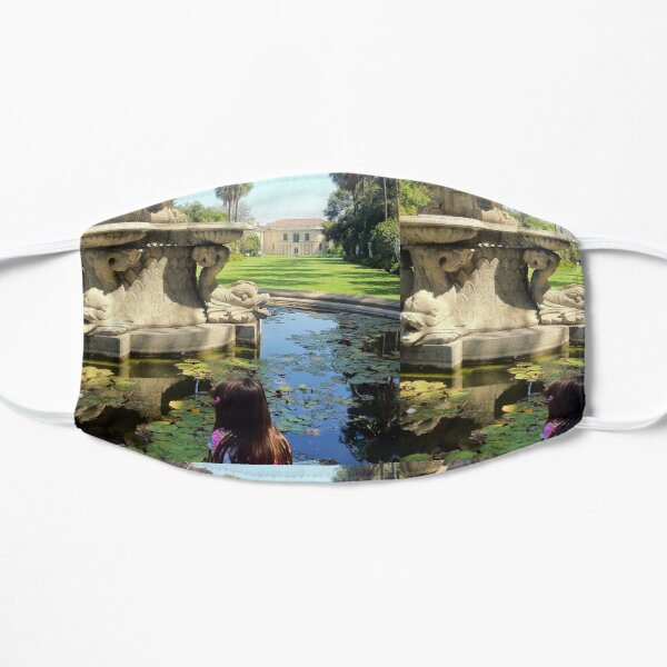 A Fountain in the Garden Flat Mask