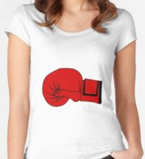 Boxing Glove Women's Fitted Scoop T-Shirt