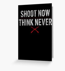 Ash Vs. Evil Dead - Shoot Now, Think Never - White Dirty Greeting Card