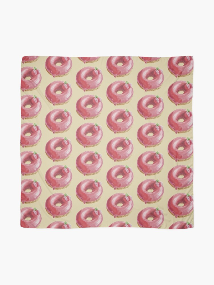 Alternate view of Cherry Donut painting (no background) Scarf