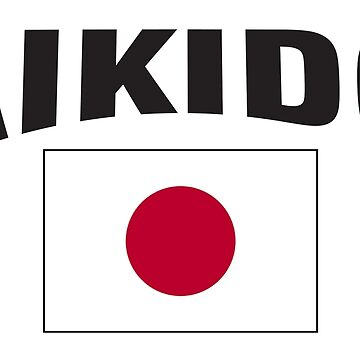 Aikido Japan Flag by SportsT-Shirts