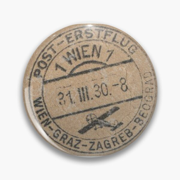 Vintage 1930s Airmail from Vienna  Pin
