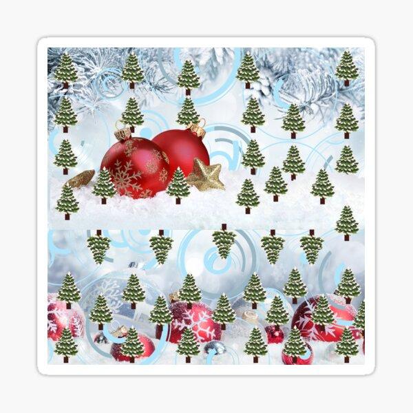 Christmas Design with Tress Sticker
