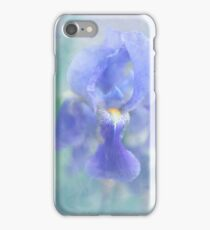 Painted Blue Iris iPhone Case/Skin