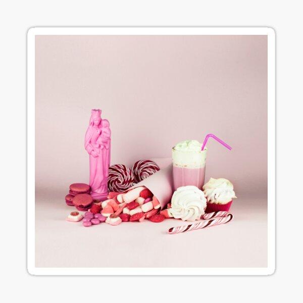 Dulce rosa condenación naturaleza muerta Pegatina