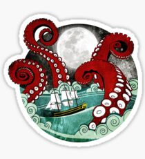 Kraken Attack Sticker